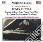 Cowell Henry - Musica Strumentale, Da Camera E Vocale, Vol.2 cd musicale di Henry Cowell