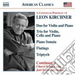Musica da camera cd musicale di Leon Kirchner