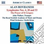 Sinfonia n.4, n.20, n.53 cd musicale di Alan Hovhaness