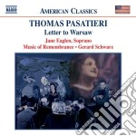 Letter to warsaw cd musicale di Thomas Pasatieri