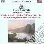 Concerto per violino, dialogues, cornet cd musicale di Earl Kim