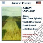 Rodeo, red pony suite, prairie journa, l cd musicale di Aaron Copland