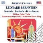 Serenade, facsimile, divertimento cd musicale di Leonard Bernstein