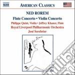 Rorem Ned - Concerto Per Violino, Concerto Per Flauto, Pilgrims cd musicale di Ned Rorem