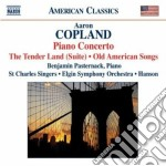 The tender land suite, concerto per pian cd musicale di Aaron Copland