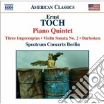 Sonata per violino, burlesken, impromptu cd musicale di Ernst Toch