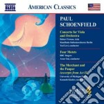 Concerto per viola, four motets, the mer cd musicale di Paul Schoenfield