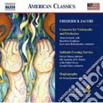 Concerto per violoncello, sabbath evenin cd musicale di Frederick Jacobi