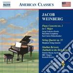Concerto per pianoforte n.2, quartetto p cd musicale di Jaromir Weinberger