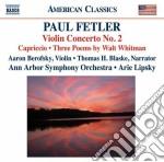 CONCERTO PER VIOLINO N.2, CAPRICCIO, 3    cd musicale di Paul Felter