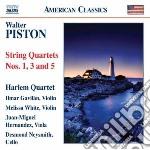 Quartetto per archi n. 1, n.3 e n.5 cd musicale di Walter Piston