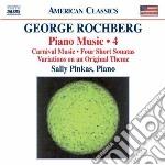 MUSICA PER PIANOFORTE (INTEGRALE), VOL.4  cd musicale di George Rochberg