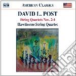 Quartetti per archi nn. 2, 3 e 4 cd musicale di Post david l.