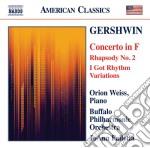 Concerto per pianoforte, rapsodia n.2, i cd musicale di George Gershwin