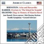 Arias and barcarolles cd musicale di Leonard Bernstein