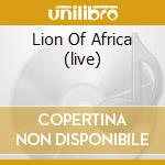 LION OF AFRICA (LIVE) cd musicale di MANU DIBANGO (CD+DVD