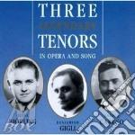 Theree legendary tenors cd musicale di Artisti Vari
