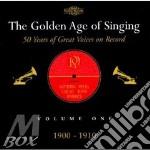 Golden age of singing, the cd musicale di Artisti Vari