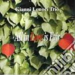 All in love is fair - cd musicale di Gianni lenoci trio