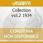 Collection vol.2 1934 cd musicale di Manone Wingy