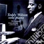 Solo piano 1939-1940 - wilson teddy cd musicale di Teddy Wilson