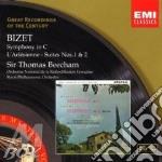 SINFONIA; L'ARLESIENNE SUITE N.1,2        cd musicale di Thomas Beecham