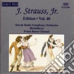 Edition vol.40: integrale delle opere or cd musicale di Johann Strauss