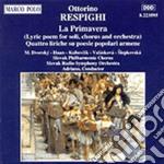 La primavera, 4 liriche su poesie popola cd musicale di Ottorino Respighi
