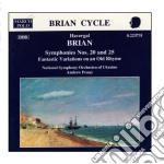 Sinfonia n.20, n.25, fantastic variation cd musicale di Havergal Brian