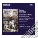 Opere x orchestra: overture drammatica, cd musicale di Vitols