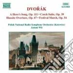 Suite ceca op.39, canto d'eroe op.111, h cd musicale di Antonin Dvorak