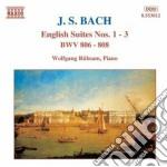 Suites inglesi nn.1-3 bwv 806-808 cd musicale di Johann Sebastian Bach