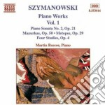 Opere x pf (integrale) vol.1: sonata n.2 cd musicale di Karol Szymanowski