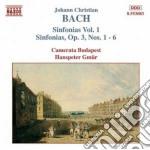 Sinfonie (integrale) vol.1: nn.1-6 op.3 cd musicale di Bach johann christia