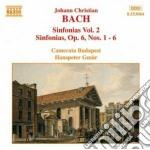 Sinfonie (integrale) vol.2: nn.2-6 op.6 cd musicale di Bach johann christia