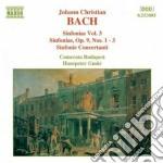 Sinfonie (integrale) vol.3: nn.1-3 op.9, cd musicale di Bach johann christia