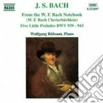 Bach J.S. - Composizioni Dal Quaderno Di W.f. Bach, 5 Piccoli Preludi Bwv 939-943 cd musicale di Johann Sebastian Bach