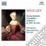 Quintetti x archi vol.3: quintetti k 539 cd musicale di Wolfgang Amadeus Mozart