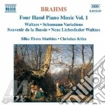 Four hand piano music v.1 cd musicale di BRAHMS