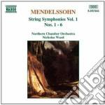 Sinfonie x archi vol.1 (integrale): n.1 cd musicale di Felix Mendelssohn