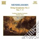 Sinfonie x archi vol.2 (integrale): n.7 cd musicale di Felix Mendelssohn