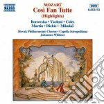 Cosi' fan tutte (estratti) cd musicale di Wolfgang Amadeus Mozart