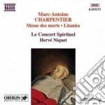 Messe des morts a 4 voci, litanies a la cd musicale di Marc-ant Charpentier