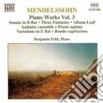 Opere x pf (integrale) vol.3: sonata op. cd musicale di Felix Mendelssohn