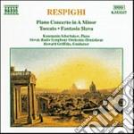 Concerto x pf, toccata x pf e orch,fanta cd musicale di Ottorino Respighi