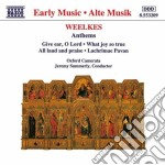 Anthems cd musicale di Thomas Weelkes