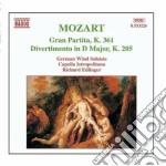 Gran partita k 361, divertimento k 205 cd musicale di Wolfgang Amadeus Mozart