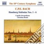 Sinfonie amburghesi nn.1-6 wq 182 cd musicale di Bach carl philip ema