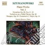 Piano works vol.2 cd musicale di SZYMANOWSKI