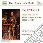 Giovanni Pierluigi Da Palestrina - Missa Sine Nomine, Missa L'homme Arme',mottetti cd musicale di PALESTRINA